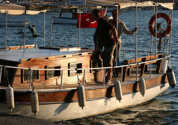 Bodrum Peninsula Turkey Bardakci Beach taxi to Bodrum Marina