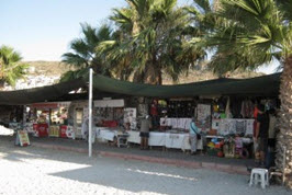 Craft Stalls by the Beach in Gundogan Bodrum Turkey