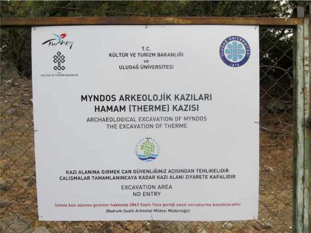 Sign for the Archaeological site