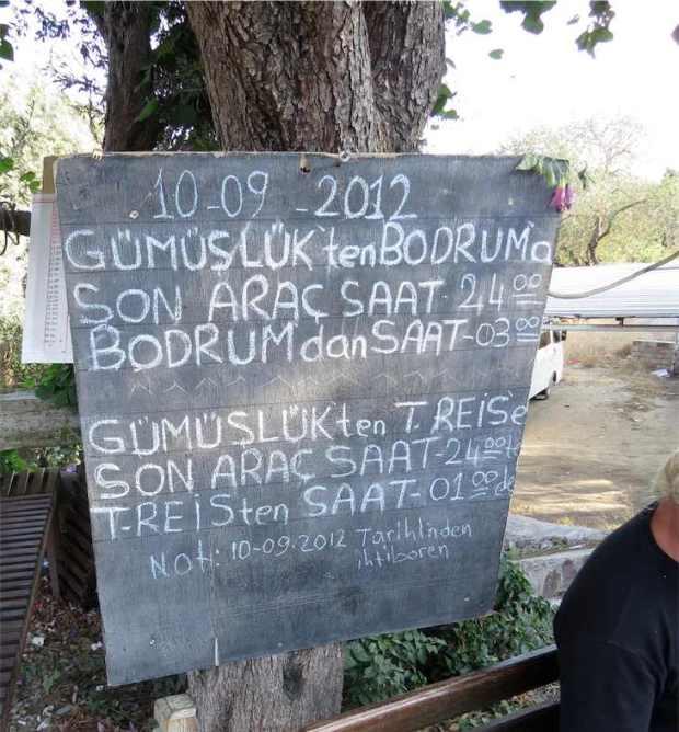 Gumusluk Bus Information, Bodrum Peninsula, Turkey