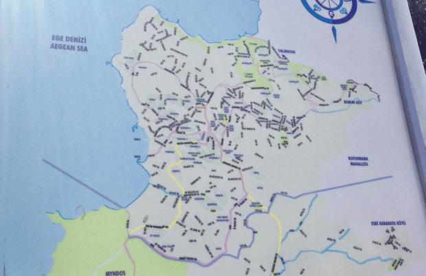 Map of Koyunbaba Bodrum