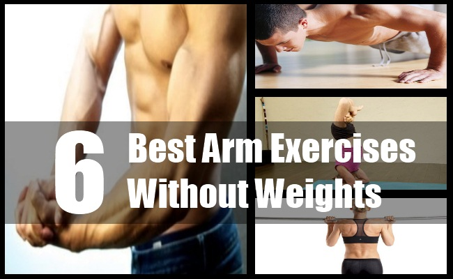 6 various arm workout without weights