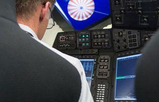 CST-100 pilot controls