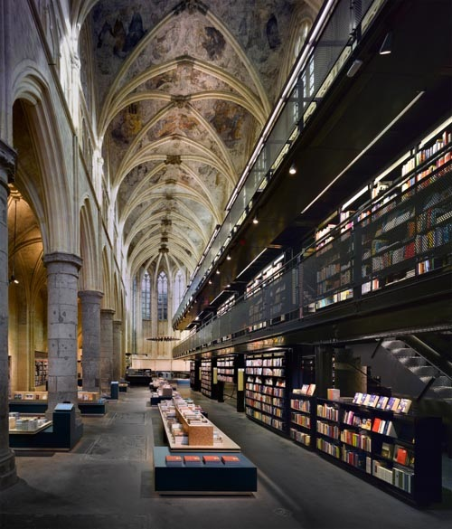 Wp-Content Uploads 2009 07 Bookstore-Selexyz-Dominicanen-By-Merkxgirod-Architects-In-Netherlands