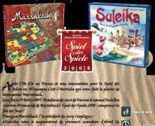 Suleika-Marrakech élu Jeu des jeux 2008 en Autriche.