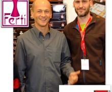 Cedric Huet (à gauche) et Rody au salon de Essen 2009