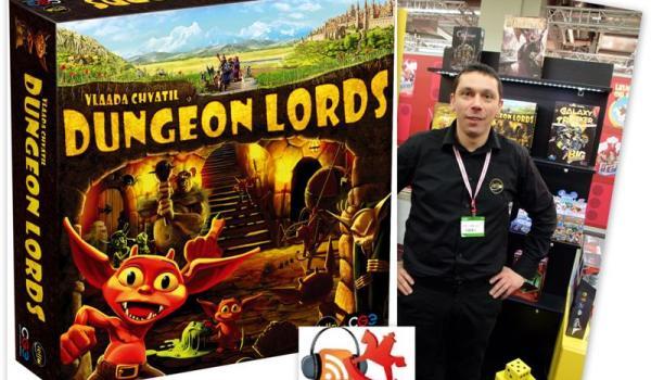 Dungeon Lords de Vlaada Chvatil chez Iello en version française. Présenté par Thibault Gruel