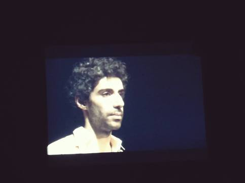 Picture I took of Jim Sarbh playing Tom Wingfield in The Glass Menagerie - Kuwait