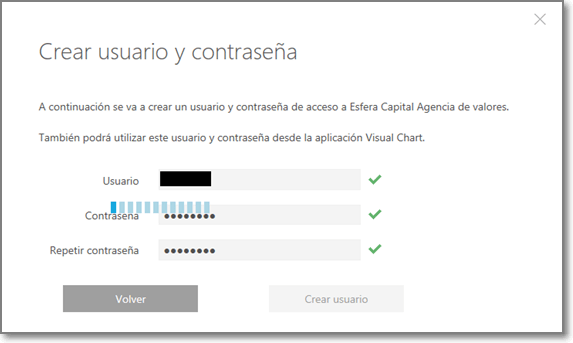 Esfera Capital 5 - Crear Usuario