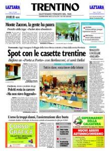 Trentino - corriere delle alpi 15 settembre 2009