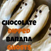 Chocolate Dipped Banana Ghosts