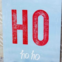 Sparkly Santa Sign