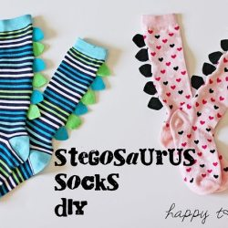 DIY Stegosaurus Socks