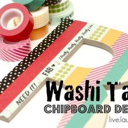 Washi Tape Chipboard Decor