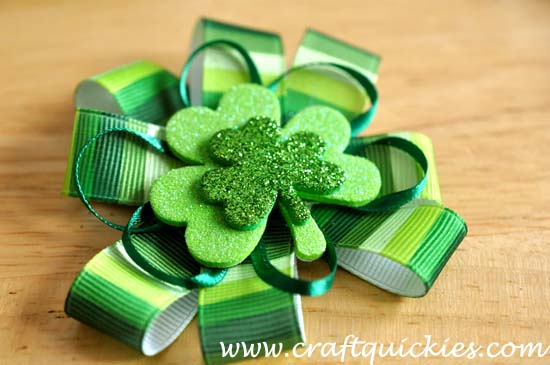 Lucky Charm Hair Bow from Craft Quickies 6