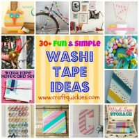 30+ Fun Washi Tape Ideas