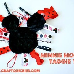 Minnie Mouse Taggies Inspired Toy