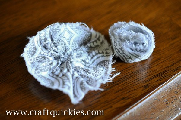 Shabby Chic Flowers and Ruffle Towels are a fab, simple way to add flair to your home!