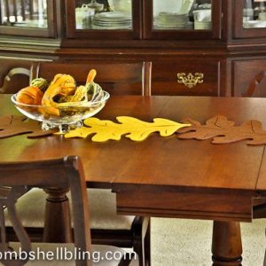I love this fall leaf table runner that can be made for $8 in under 8 minutes!