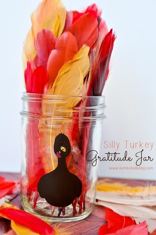 Teaching kids gratitude is easy with this silly turkey gratitude jar idea! Perfect for Thanksgiving!