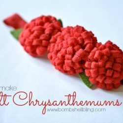 Felt Chrysanthemum Headband