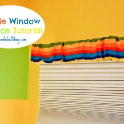 Dr. Seuss Room: Simple Window Valance Tutorial