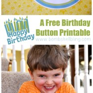 Happy Birthday Button Printable
