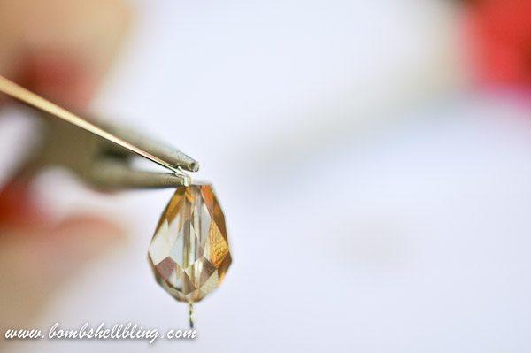 Gold Teardrop Earrings-3