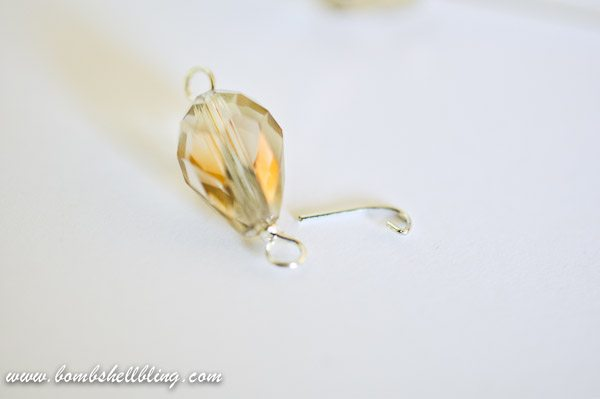 Gold Teardrop Earrings-6