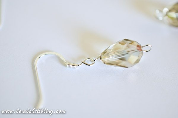 Gold Teardrop Earrings-8