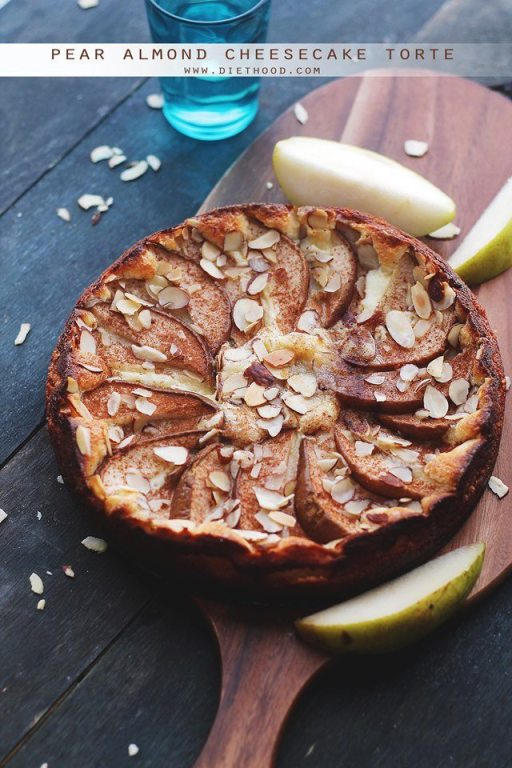 **Pear-Almond-Cheesecake-Torte-Diethood