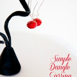 Simple Dangle Earrings Tutorial & 106 Cheap Birthday Gift Ideas Blog Hop