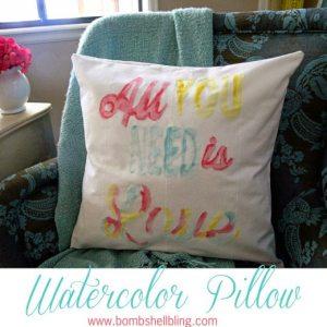 Watercolor Pillows Tutorial