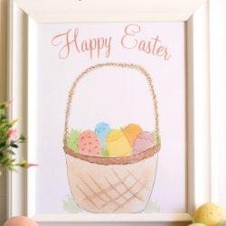 Easter Watercolor Printable