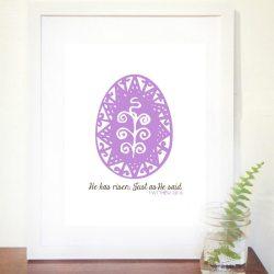 """He Has Risen"" FREE Easter Printable"