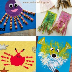 15 Seashore Inspired Kid Crafts