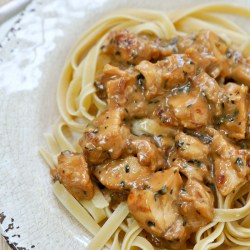 Teriyaki Chicken Alfredo Recipe with Tyson® Grilled and Ready® Chicken Breast Strips