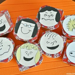 Printable PEANUTS Characters Pudding Cup Toppers