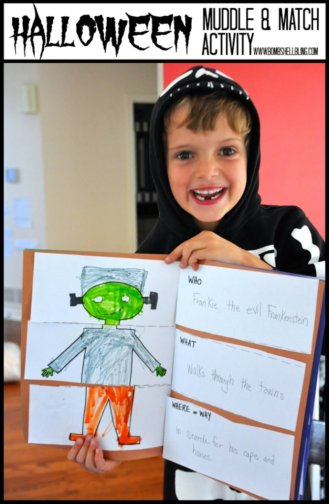 This is such a fun project for kids! Art, writing, and silliness all in one, with a Halloween twist!!
