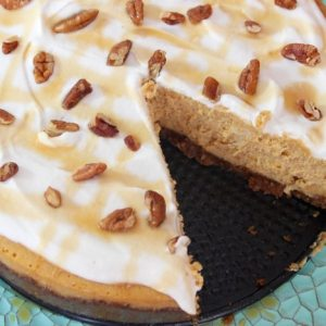 Pumpkin-Cheesecake-with-Gingersnap-Crust