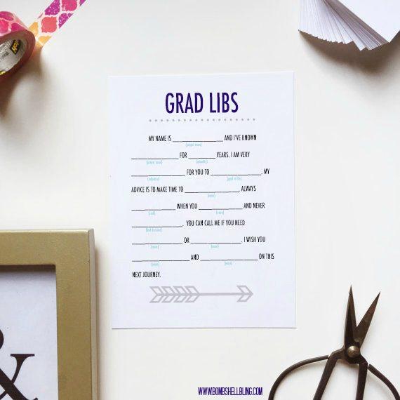 Grad Libs Printable