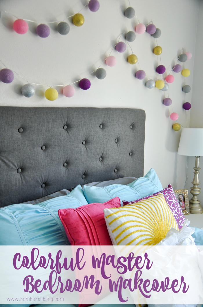 Master Bedroom Makeover - Bombshell Bling