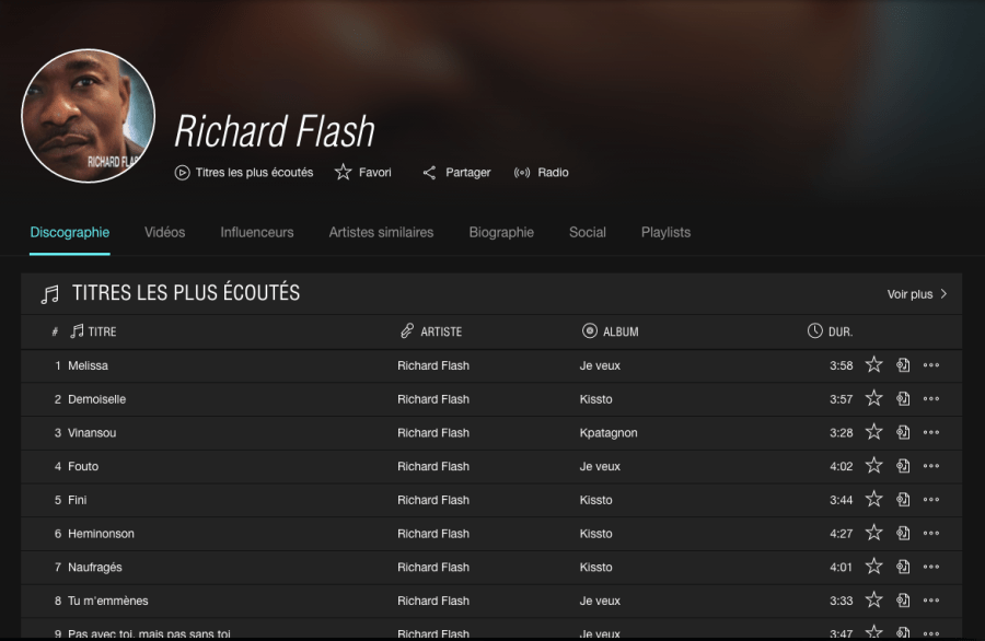 Richard Flash sur Tidal