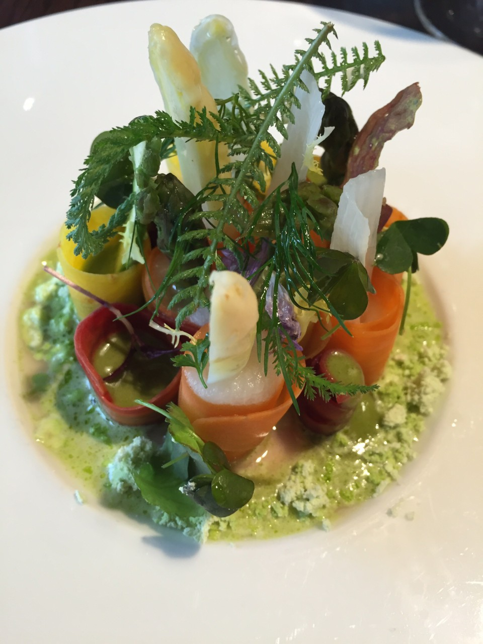 Mlynec Prague – Asparagus & Carrot Salad with Lime and Mint Dust
