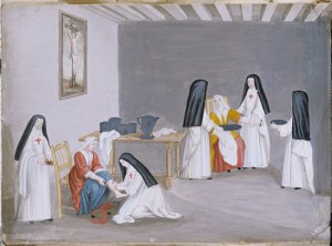 Nuns caring for the sick