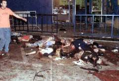Carnage after terrorist bomb in Tel Aviv