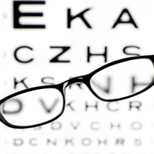Blurred eye chart