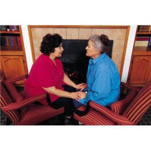 Older women talking