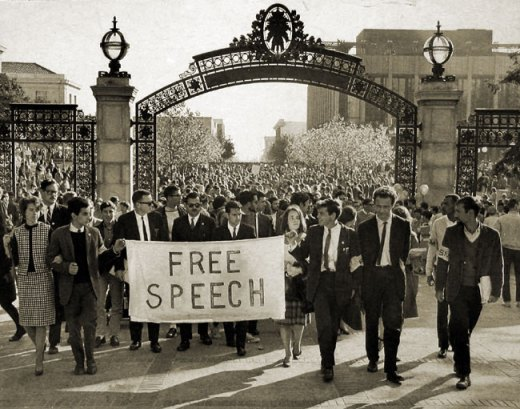 "One wonders how many of the jubilant Berkeley students who bought into 1964's Free Speech Movement would be shocked by today's censorship.  My guess is ""none.""  It was always about Leftist re-education."