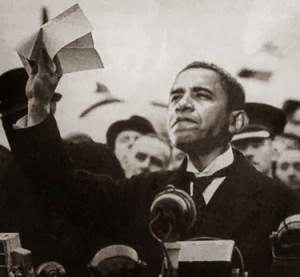 Obama as Neville Chamberlain